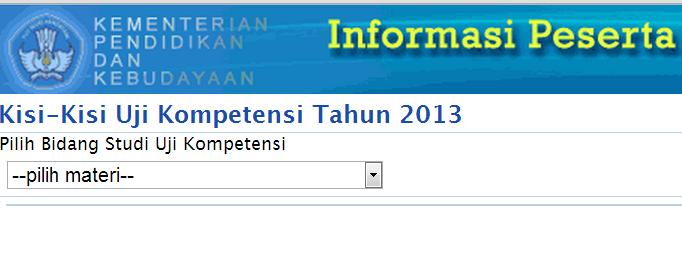 """sertifikasi guru http://sergur.kemdiknas.go.id Klik """" Kisi-Kisi"""